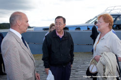 Prof. Vuorinen presents AMBER to UN Secretary General Ban Ki-moon