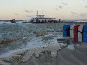 Picture: storm at Warnemuende coast