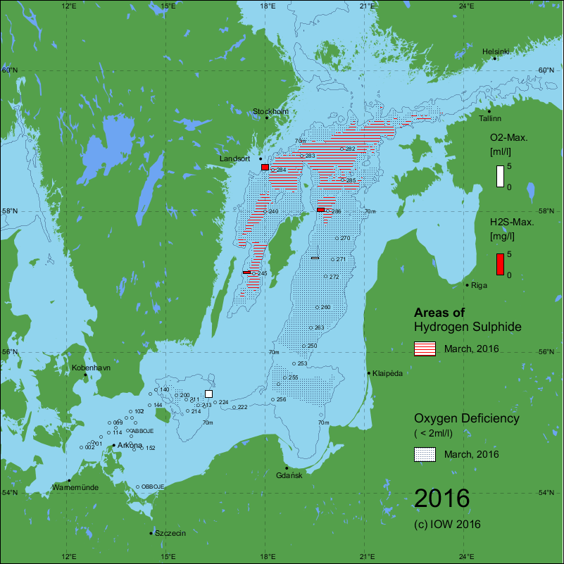 Baltic Sea \'dead zone\' development, 1969 – 2015: IOW publishes ...