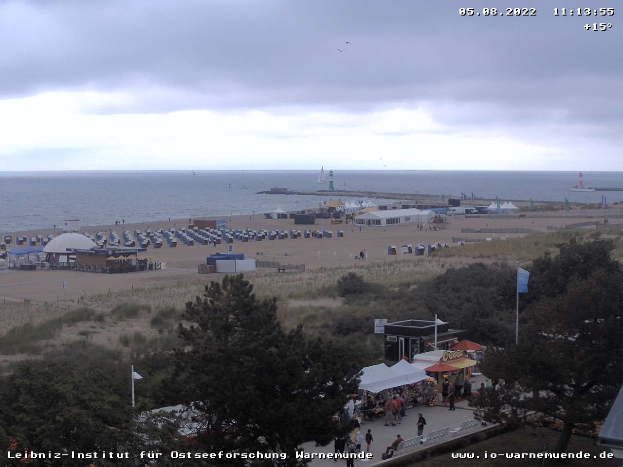 Webcam in Warnemünde